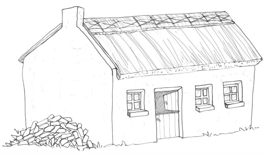 cottage coloring pages - photo#5